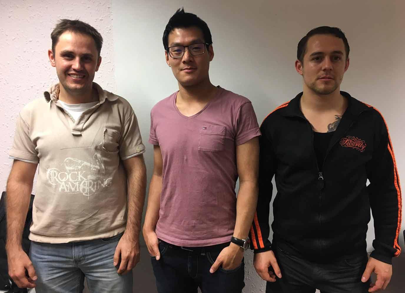 Von links: Valentin Kuklin, Than Kien Tran und Kevin Narr