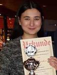 Ganokorn Ganser ist Württembergische Damenmeisterin im Schnellschach!