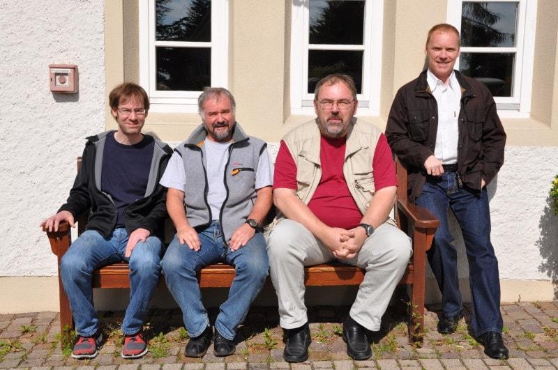 Von links: Karsten Schuh, Martin Böhm, Rene Dausch und Ralf Müller