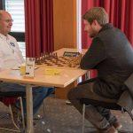 Brett 4: links IM Karsten Volke (Elo 2473) gegen FM David Ortmann (Elo 2312)© Jürgen Koch