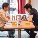 Brett 5: links IM Jadranko Plenca (Elo 2446) gegen Thanh Kien Tran (Elo 2224)© Jürgen Koch