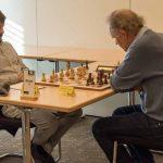 Brett 7: links IM Julijan Plenca (Elo 2416) gegen FM Peter Bauer (Elo 2199)© Jürgen Koch