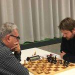 Brett 4: rechts FM David Ortmann (Elo 2312) gegen IM Christian Maier (Elo 2398)
