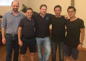 von links: Samuel Schröter, Valentin Kuklin, David Ortmann, Branimir Vujic und Than Kien Tran