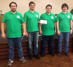 Die GM Alexander Zubov, Pavel Ponkratov, Vladimir Onischuk, und Pavel Maletin